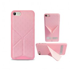 Чехол O!coat 0.3+Totem Versatile case with stand for iPhone 7 Pink